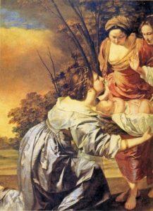 МЛАДЕНЦА МОИСЕЯ ДОСТАЮТ ИЗ НИЛА. ХУД. О. ДЖЕНТИЛЛЕСКИ (1593–1653).