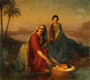 МОИСЕЙ, ОПУСКАЕМЫЙ МАТЕРЬЮ НА ВОДЫ НИЛА. 1839–1842 гг. ХУД. А. В. ТЫРАНОВ (1808–1859)