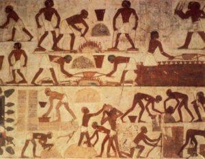 ИЗОБРАЖЕНИЯ ЕГИПЕТСКИХ РАБОВ НА СТРОИТЕЛЬНЫХ РАБОТАХ