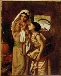 ИОХАВЕДА И МАРИАМЬ С НОВОРОЖДЕННЫМ МОИСЕЕМ. ХУД. СИМЕОН СОЛОМОН (1840–1905)