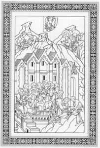 УСТАНОВЛЕНИЕ ПРАЗДНИКА ПАСХИ. ИЛЛЮСТРАЦИЯ ЛИЦЕВОЙ БИБЛИИ. 1914 г.