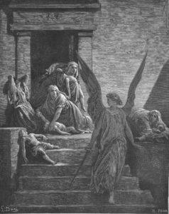 ДЕСЯТАЯ КАЗНЬ – СМЕРТЬ ПЕРВЕНЦЕВ ЕГИПЕТСКИХ. ГРАВЮРА Г. ДОРЕ (1832–1883)