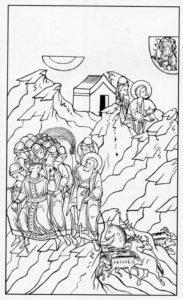 ШЕСТАЯ КАЗНЬ – ВОСПАЛЕНИЕ С НАРЫВАМИ. ИЛЛЮСТРАЦИЯ ЛИЦЕВОЙ БИБЛИИ. 1914 г.