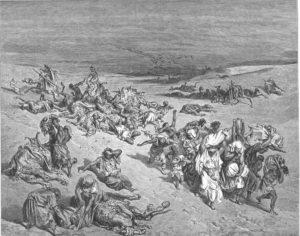 ПЯТАЯ КАЗНЬ – ПОРАЖЕНИЕ СКОТА. ГРАВЮРА Г. ДОРЕ (1832–1883)