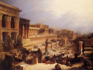 ИСХОД ЕВРЕЕВ ИЗ ЕГИПТА. 1828 г. ХУД. ДЭВИД РОБЕРТС (1796–1864)