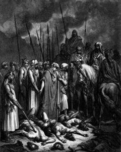 ИИСУС НАВИН ОСТАВЛЯЕТ В ЖИВЫХ РААВ ГРАВЮРА Г. ДОРЕ