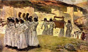 ИЗРАИЛЬТЯНЕ ОБХОДЯТ СТЕНЫ ИЕРИХОНА С КОВЧЕГОМ ЗАВЕТА