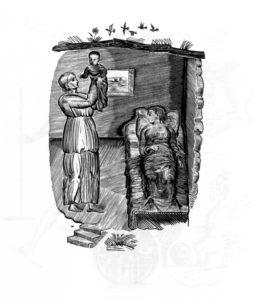 ИЛЛЮСТАЦИЯ К 4-й ГЛАВЕ КНИГИ РУФЬ. 1924 г. ХУД. В. А ФАВОРСКИЙ (1886–1964).