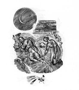 ИЛЛЮСТАЦИЯ К 3-й ГЛАВЕ КНИГИ РУФЬ. 1924 г. ХУД. В. А ФАВОРСКИЙ (1886–1964).