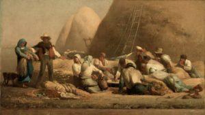 ЖНЕЦЫ, ПРЕДЛАГАЮЩИЕ РУФИ И ВООЗУ ОТДОХНУТЬ 1853 г. ХУД. ЖАН-ФРАНСУА МИЛЛЕ (1814–1875)