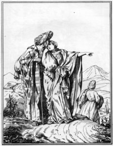 РУФЬ И НОЕМИНЬ. РИСУНОК САПОЖНИКОВА. 1861 г.