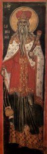 СВ. ПРОРОК САМУИЛ. ФРЕСКА. АФОН. 1546 г.