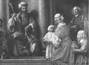 АННА ПРЕДСТАВЛЯЕТ ИЛИЮ СЫНА САМУИЛА. 1578 г. ХУД. ЛАМБЕРТ ДУМЕР (1624–1700). ОРЛЕАН