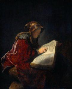 ПРОРОЧИЦА АННА, МАТЬ ПРОРОКА САМУИЛА. ХУД. РЕМБРАНДТ ВАН РЕЙН (1606–1669)