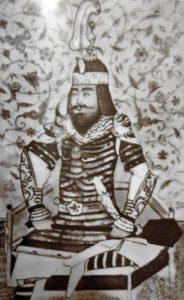 ПОРТРЕТ ТАМЕРЛАНА (1370 — 1405). МИНИАТЮРА XV в.