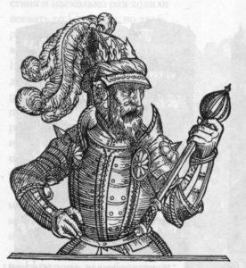 ЛИТОВСКИЙ КНЯЗЬ ОЛЬГЕРД. ГРАВЮРА 1581 г.