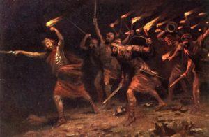 ГЕДЕОН И 300 ИЗРАИЛЬСКИХ ВОИНОВ В БИТВЕ С МАДИАНИТЯНАМИ