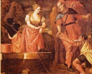 ЕЛИЕЗЕР И РЕВЕККА У КОЛОДЦА. ХУД. П. ВЕРОНЕЗЕ (1528–1588).