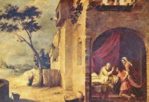 ИСААК БЛАГОСЛОВЛЯЕТ ИАКОВА. ХУД. БАРТОЛОМЕ ЭСТЕБАН МУРИЛЬО (1617–1682)