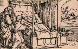 ИСААК БЛАГОСЛОВЛЯЮЩИЙ ИАКОВА. ХУД. Г. ГОЛЬБЕЙН МЛАДШИЙ (1497–1543)