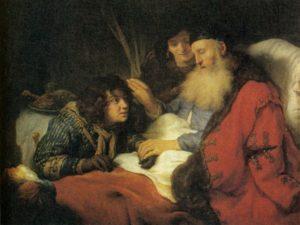 ИСААК БЛАГОСЛОВЛЯЮЩИЙ ИАКОВА. 1638 г. ХУД. ГОВАРД ФЛИНК(1615–1660). РИКСМУЗЕУМ. АМСТЕРДАМ