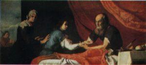 ИСААК БЛАГОСЛОВЛЯЕТ ИАКОВА. 1637 г. ХУД. ХУСЕППЕ РИБЕРА (1591-1652). ПРАДО. МАДРИД
