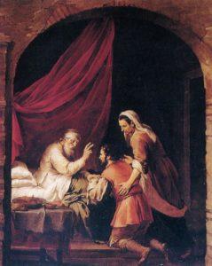 ИАКОВ ХИТРОСТЬЮ ПОЛУЧАЕТ БЛАГОСЛОВЕНИЕ ИСААКА. ХУД. ГОВЕРТ ФЛИНК ( 1615-1660)