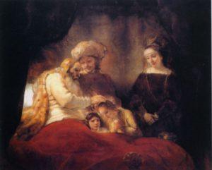 БЛАГОСЛОВЕНИЕ ИАКОВА. 1656 г. РЕМБРАНДТ ХАРМЕНС ВАН РЕЙН (1606–1669)