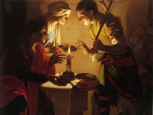 ИСАВ ПРОДАЕТ СВОЕ ПЕРВОРОДСТВО. ХУД. ХЕНДРИК ТЕРБРЮГГЕН (1588-1629) НИДЕРЛАНДЫ