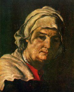 РЕВЕККА. ФРАГМЕНТ КАРТИНЫ ИСААК БЛАГОСЛОВЛЯЕТ ИАКОВА. ХУД. ХУСЕППЕ РИБЕРА (1591-1652 гг.). ПРАДО