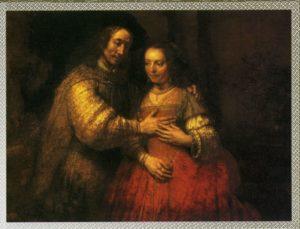 ИСААК И РЕВЕККА. 1666 г. ХУД. РЕМБРАНДТ ХАРМЕНС ВАН РЕЙН (1606–1669). РИКСМУЗЕУМ. АМСТЕРДАМ