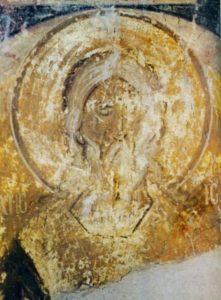 СВ. ПРАОТЕЦ ИСААК. ФРЕСКА ЦЕКВИ СВ. ФЕОДОРА СТРАТИЛАТА В ВЕЛИКОМ НОВГОРОДЕ. 1380-1390-е гг.
