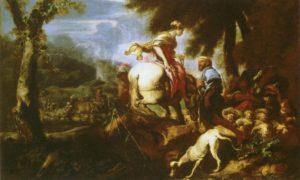ВСТРЕЧА ИСААКА И РЕВЕККИ. ХУД. КАСТИЛЬОНЕ ДЖОВАННИ БЕНЕДЕТТО (1607–1665). ГЭ