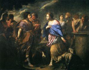 ВСТРЕЧА РЕВЕККИ С ИСААКОМ. ХУД. АНДРЕА ВАККАРО (1598-1670)