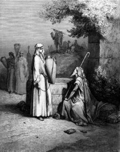 ЕЛИЕЗЕР И РЕВЕККА. ГРАВЮРА Г. ДОРЕ (1832–1883)