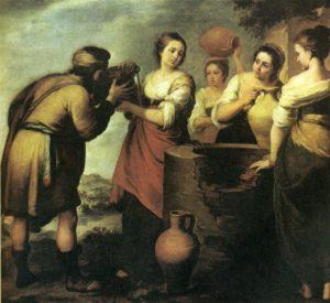ЕЛИЕЗЕР И РЕВЕККА. 1665 г. ХУД. ХУД. БАРТОЛОМЕ ЭСТЕБАН МУРИЛЬО (1617–1682). ПРАДО. МАДРИД