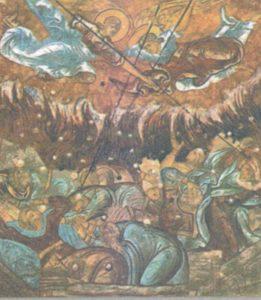 ГИБЕЛЬ СОДОМА И ГОМОРРЫ. ФРЕСКА ТРОИЦКОГО СОБОРА В ПЕРЕСЛАВЛЕ ЗАЛЕССКОМ. 1662 г.
