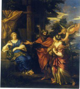 ВОЗВРАЩЕНИЕ АГАРИ. ХУД. ПЬЕТРО ДА КОРТОНА (1596–1669). ГМИИ. МОСКВА