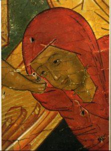 САРРА. ДЕТАЛЬ ИКОНЫ ВОСКРЕСЕНИЕ - СОШЕСТВИЕ ВО АД. XVI в. ВОЛОГДА