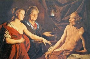 САРА ПРИВОДИТ АГАРЬ К АВРАМУ. ХУД. МАТТИАС СТОМЕР (1600– после 1652)