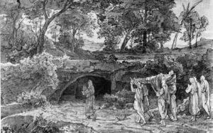 ПОГРЕБЕНИЕ САРРЫ. 1874 г. ХУД. ФРИДРИХ ПРЕЛЛЕР СТАРШИЙ (1804–1878)