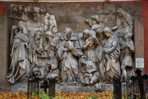 МЕЛХИСЕДЕК ВСТРЕЧАЕТ АВРААМА С ПЛЕНЕННЫМИ ИМ ЦАРЯМИ. ГОРЕЛЬЕФ С ХРАМА ХРИСТА СПАСИТЕЛЯ. СКУЛЬПТОР А. В. ЛОГАНОВСКИЙ (1812–1855)
