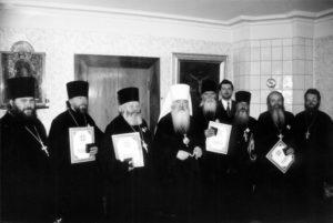 МИТРОПОЛИТ ЮВЕНАЛИЙ С ДУХОВНИКАМИ МОСКОВСКОЙ ЕПАРХИИ