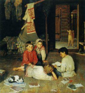 НОВАЯ СКАЗКА. ХУД. Н. П. БОГДАНОВ-БЕЛЬСКИЙ. 1891 г.