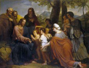 ХРИСТОС БЛАГОСЛОВЛЯЮЩИЙ ДЕТЕЙ. ХУД. АНТУАН АНСИО (1764–1840)