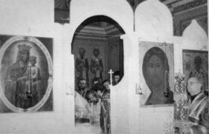 ПОСВЯЩЕНИЕ ВО ДИАКОНА В. П. ЛАРИЧЕВА В ЦЕРКВИ РОЖДЕСТВА ПРЕСВЯТОЙ БОГОРОДИЦЫ СТАРО-СИМОНОВА МОНАСТЫРЯ. 25 МАРТА 1990 г.