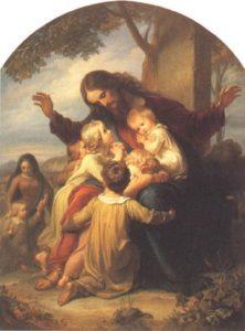 ХРИСТОС БЛАГОСЛОВЛЯЮЩИЙ ДЕТЕЙ. ИКОНА